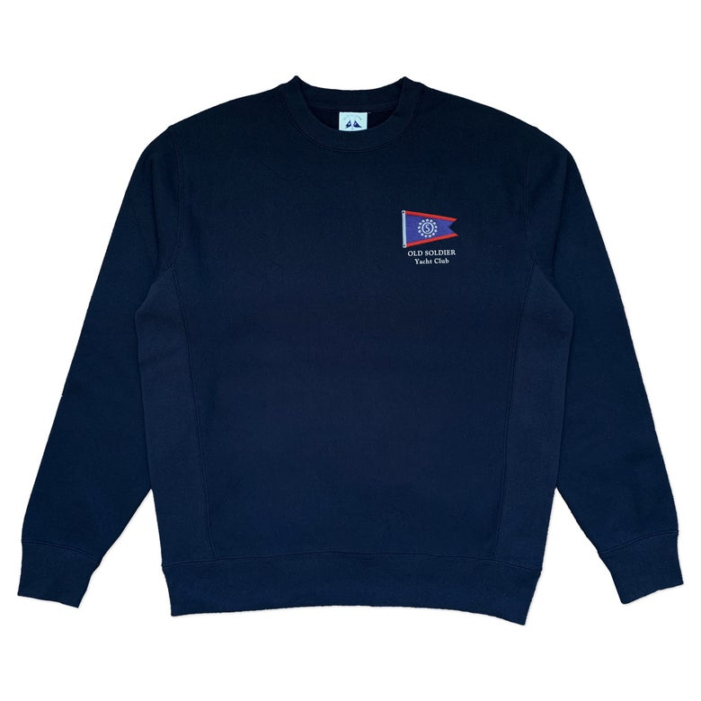 Image of Yacht Club Crewneck - Deep Navy