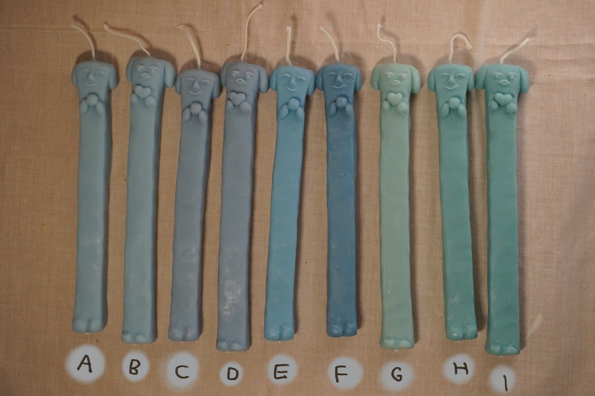 Image of Long Doggy Candles 2