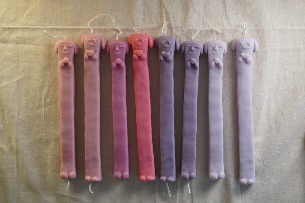 Image of Long Doggy Candles 3