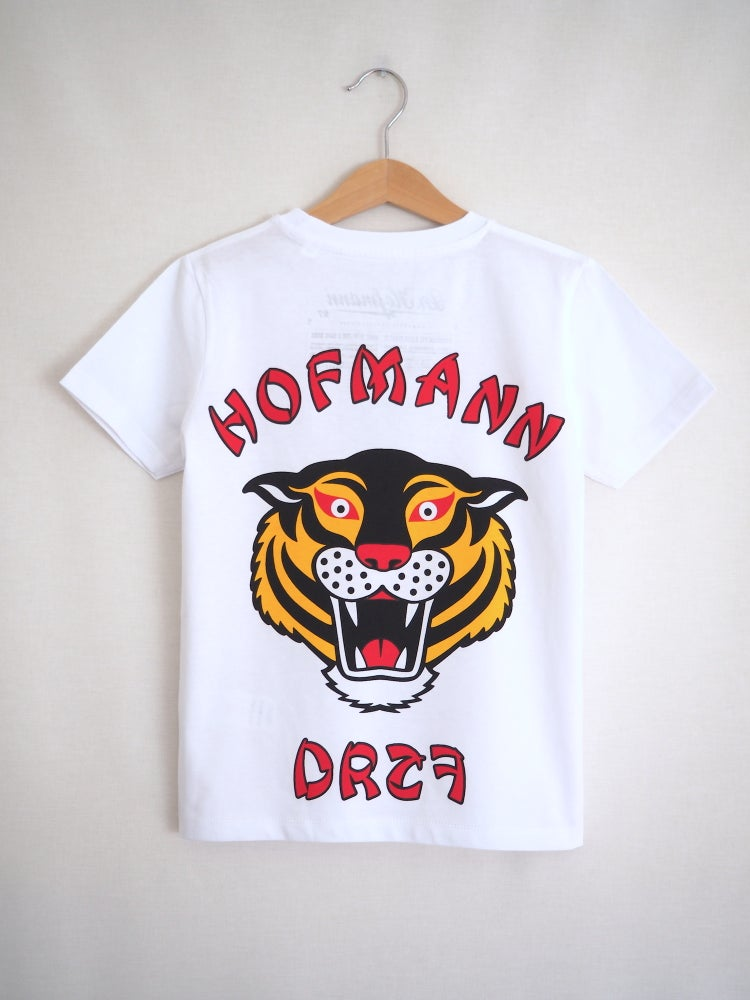 "Image of Kids ""TIGER"" (backside photo) - Organic Cotton - White"