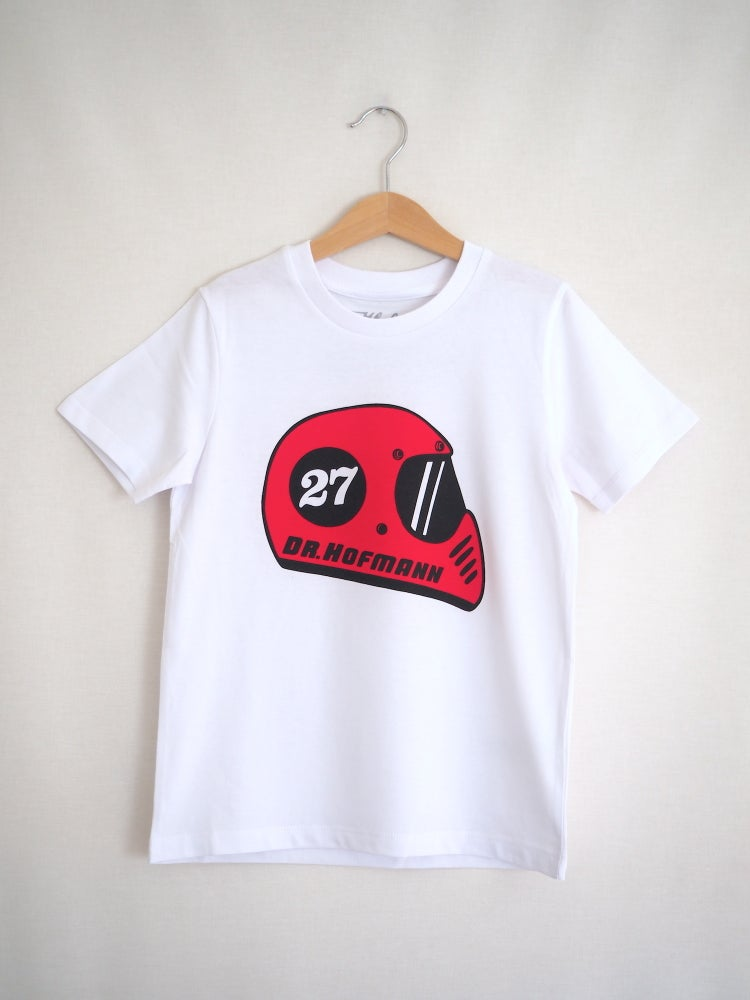 "Image of Kids ""RETRO HELMET - Organic cotton - White"