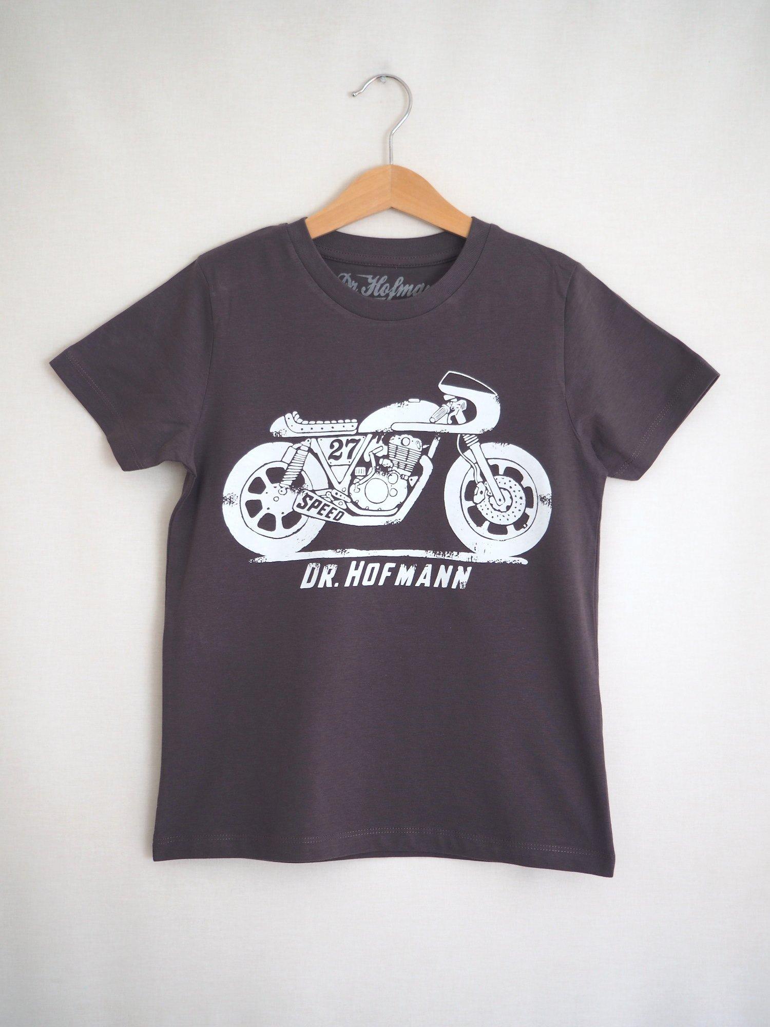 "Image of Kids ""CAFE RACER""  tee - Organic Cotton - Grey"