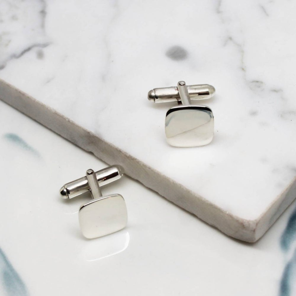 Image of Cushion Pure Sterling Silver Cufflinks