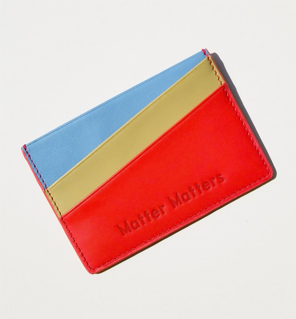'Good Enough ' Multicolor card case - Red
