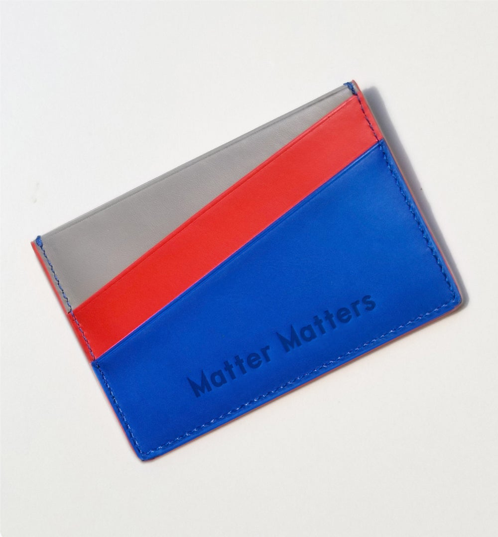 'Unlimited Funds' Multicolor card case - Blue