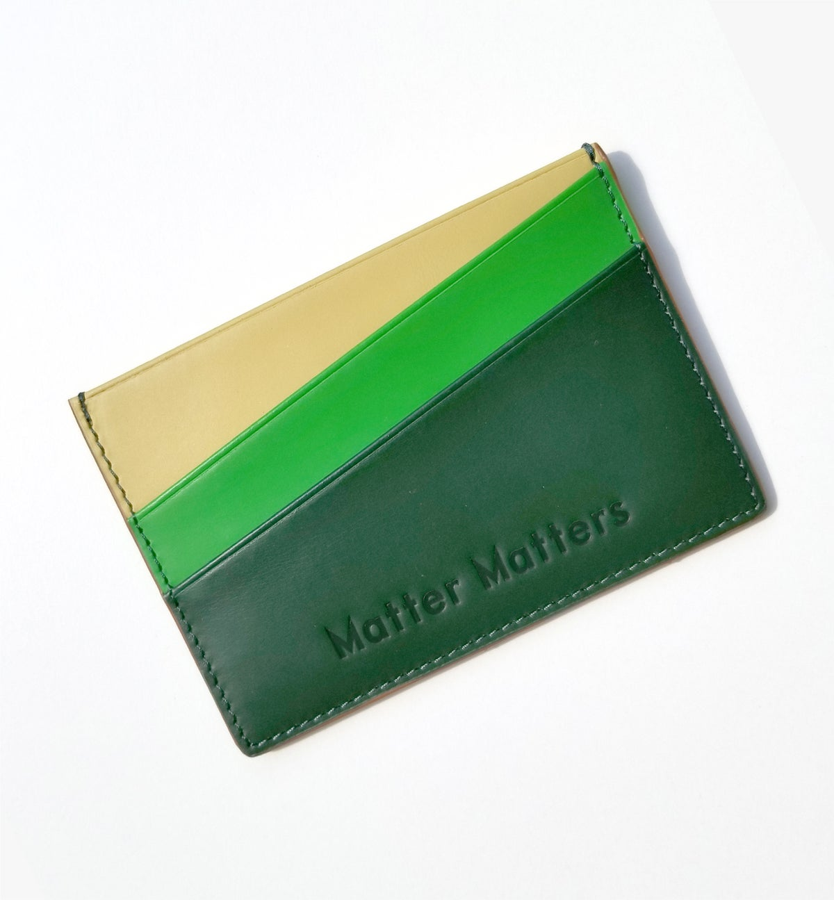 Image of 'Unlimited Funds' Multicolor card case - Rainbow Green