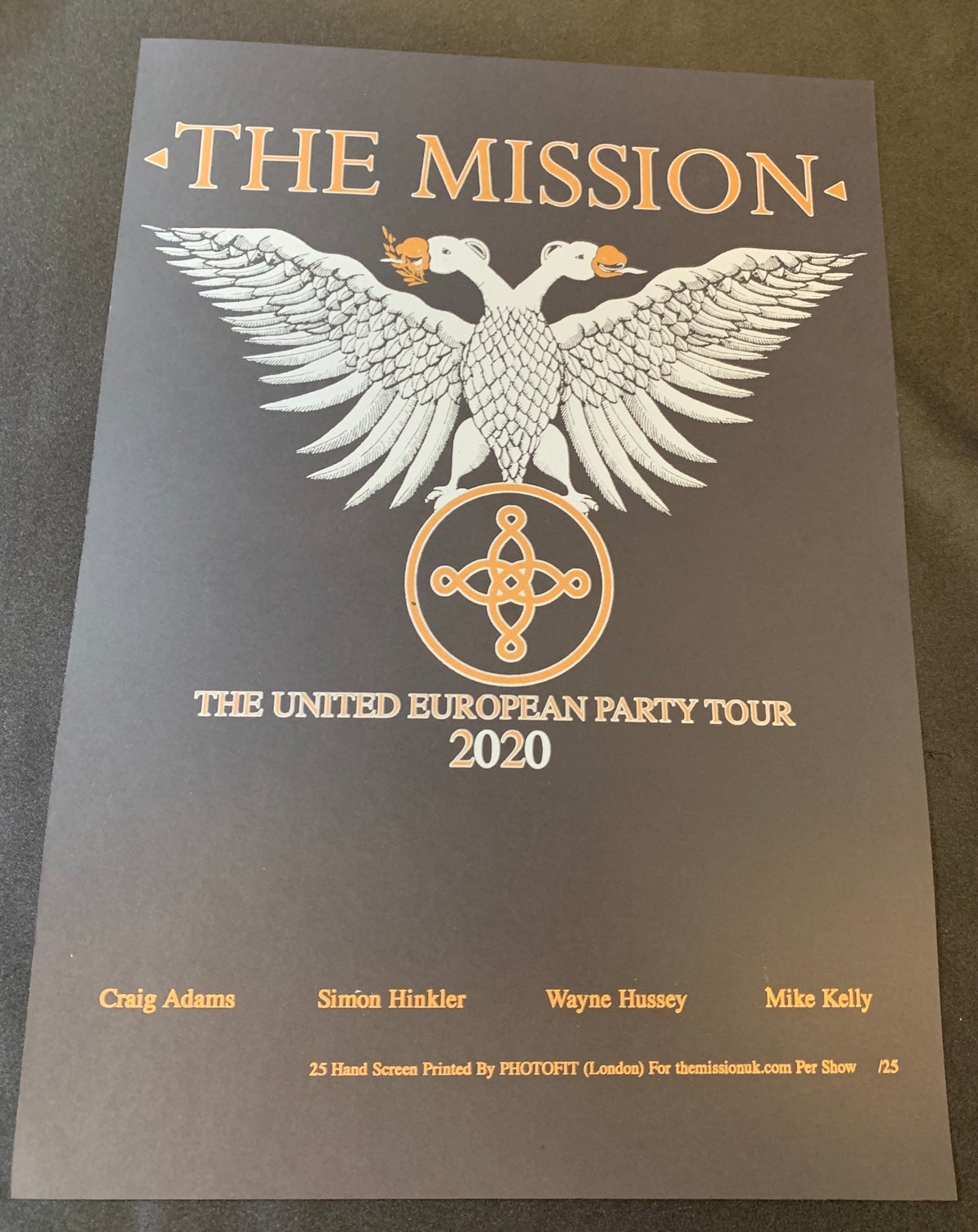Image of The Mission - The United European Tour Screen Print Poster - Unsigned Edition