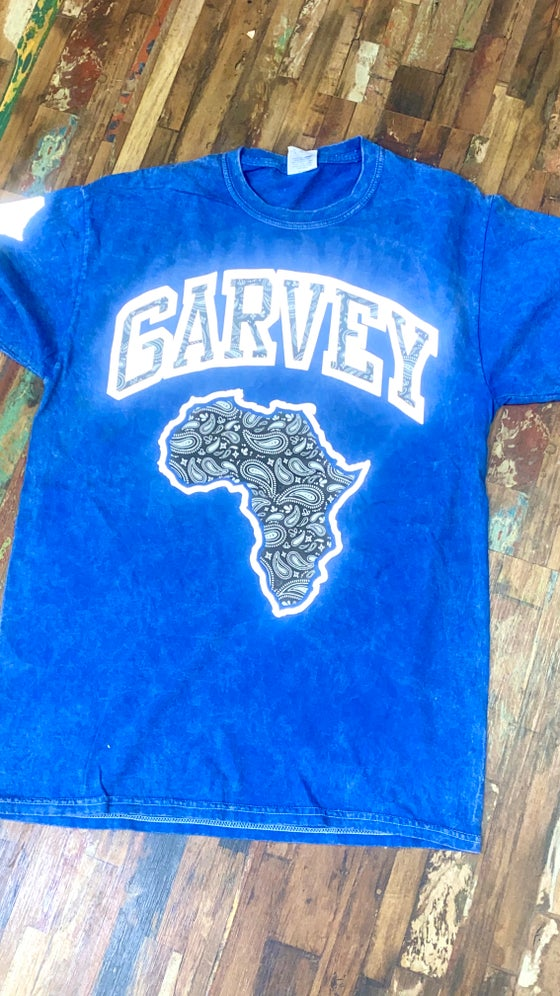 Image of BLUE ACID WASH BLACK PAISLEY 3M TSHIRT