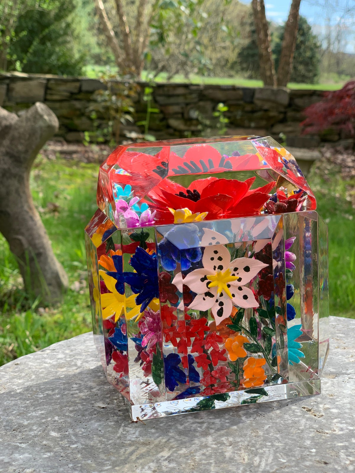 Image of Painted Petite Multi Flower Box
