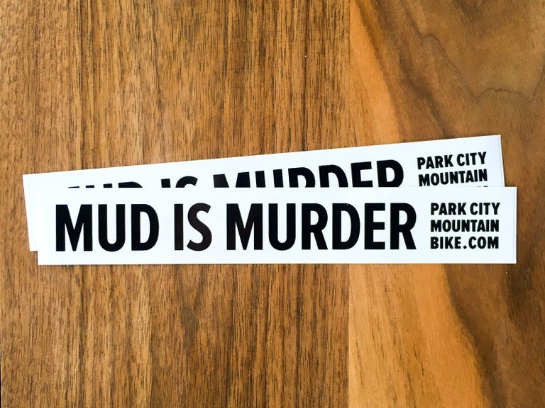 Image of Mud is Murder Stickers (Pack of 2)