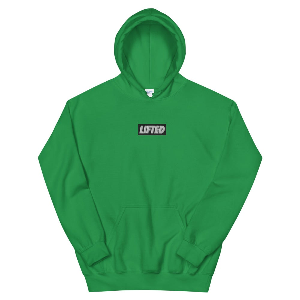 Embroidered Box Logo Hoodie