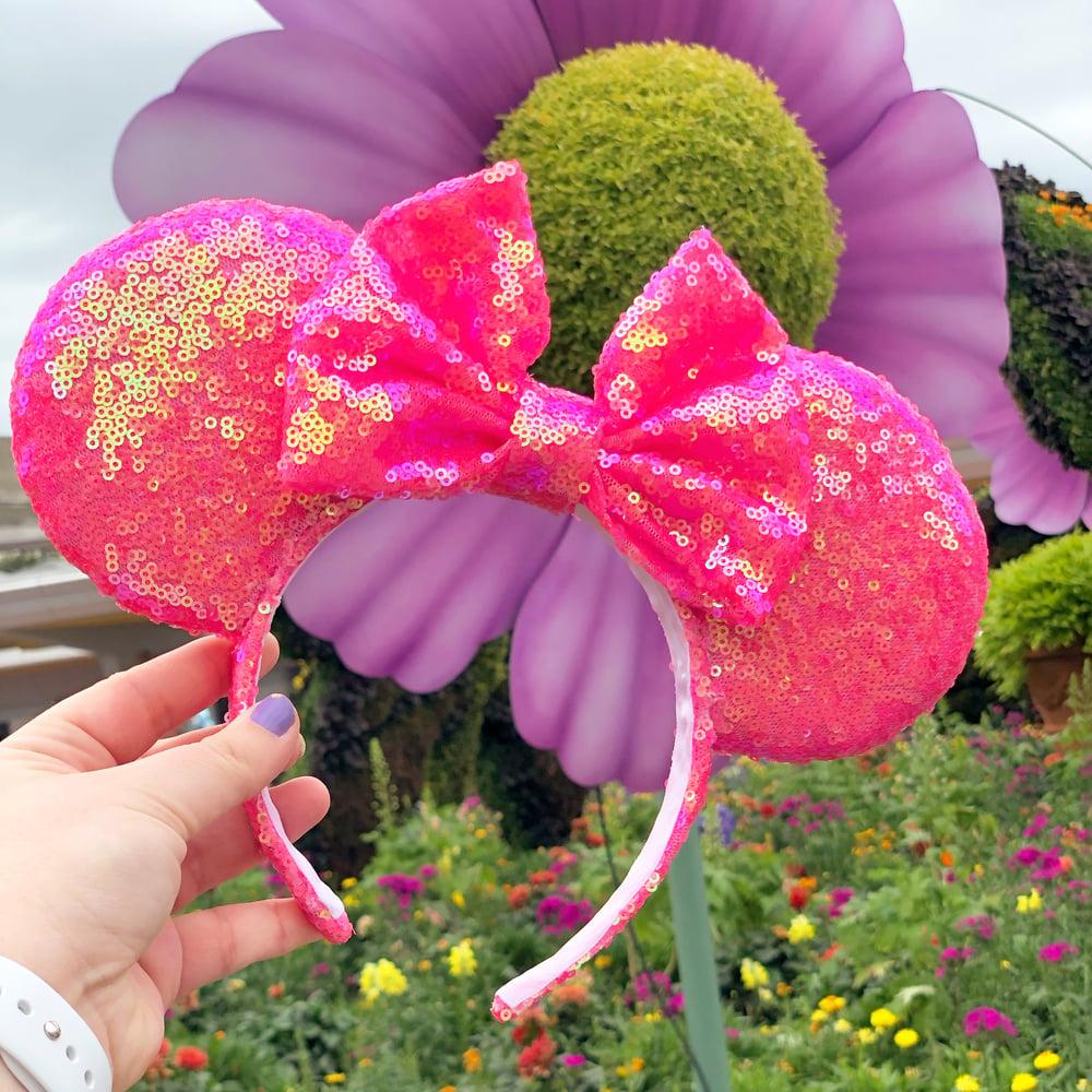 Image of NEON Pink Pixie Sequin Ears
