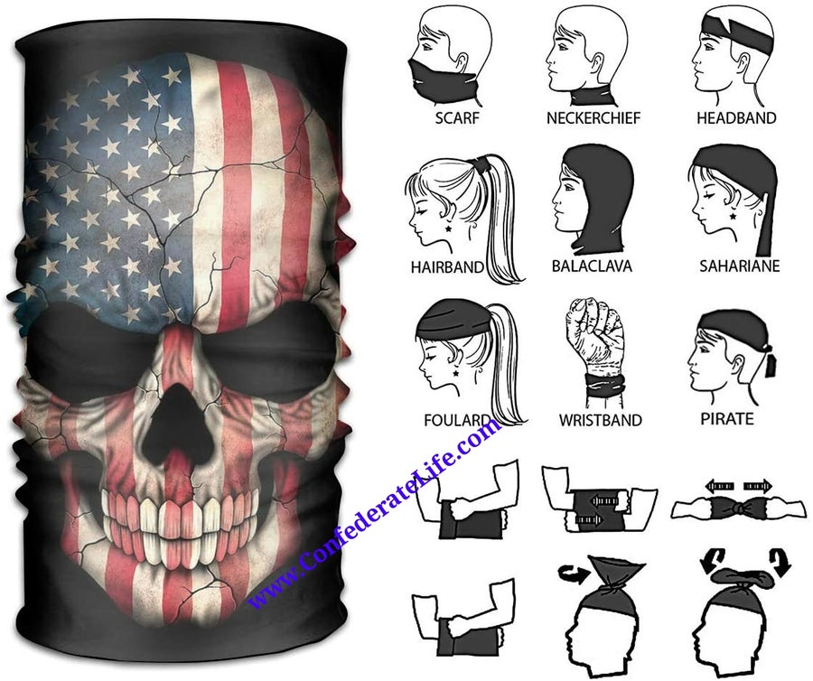 Image of American Skull Face Mask