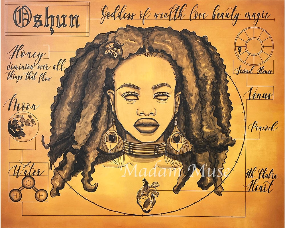 "Image of ""Oshun"" Blueprint Limited Edition Prints"