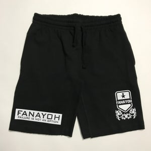 "Image of Black FANAYOH ""White Box"" Jogger Shorts"