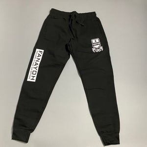 "Image of Black FANAYOH ""White Box"" Joggers"