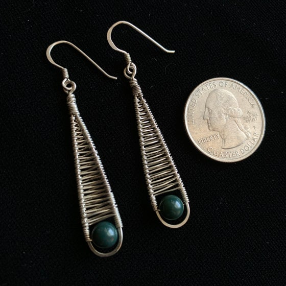 Image of Sterling wire drop earrings