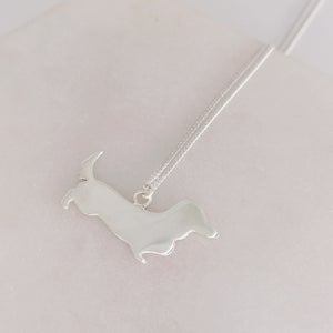 Image of Silver Dachshund Necklace