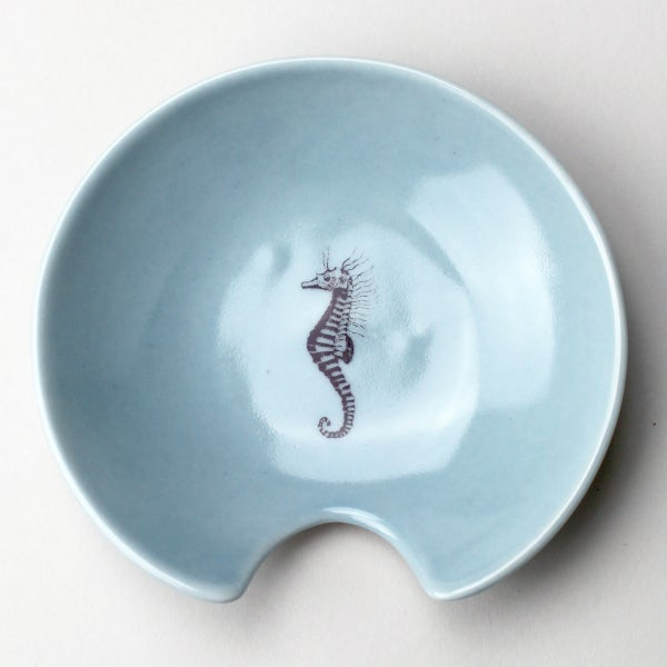 Image of spoon holder with seahorse, ocean