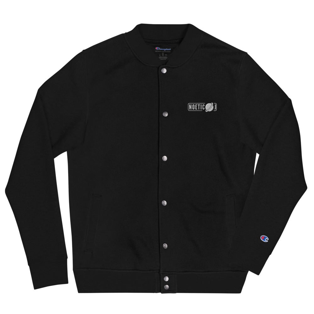 Noetic J Embroidered Champion Bomber Jacket