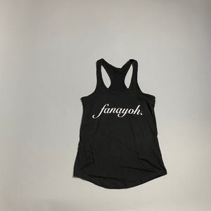 "Image of Women's ""FANAYOH Period"" RacerBack Tank Top (Black)"