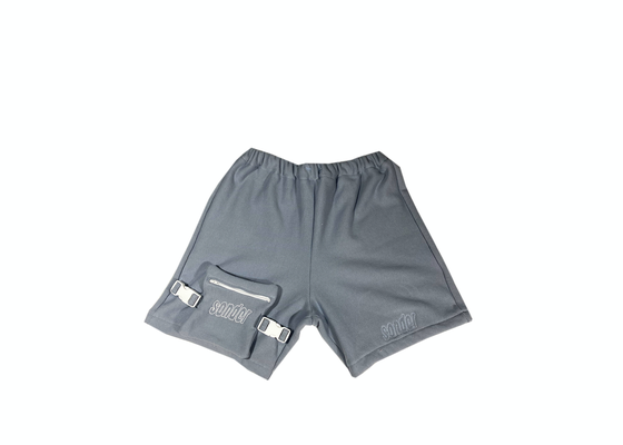 Image of Blue Shorts Double Embroidery 1/1