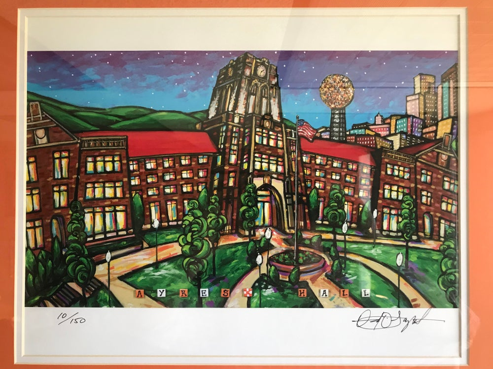 Image of Ayres Hall - Framed and Matted Print
