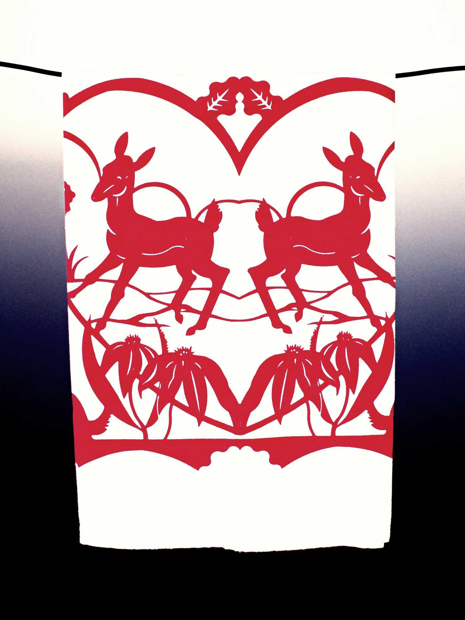 "Image of ""Deerheart"" Dishtowel"
