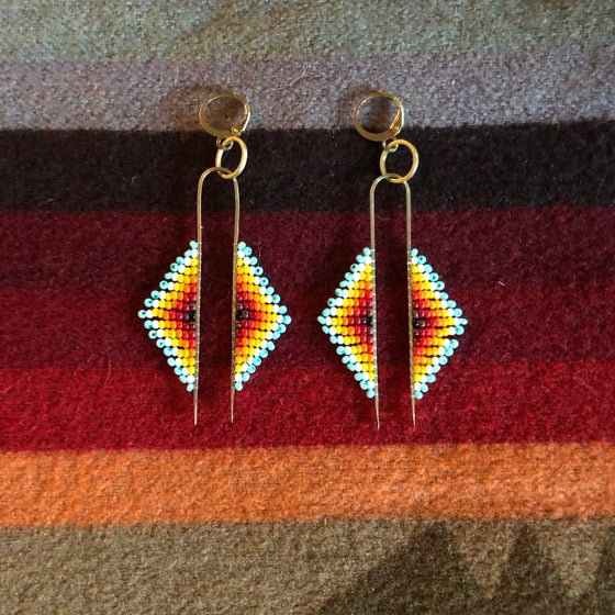 Image of ORIGINS - Double drop earrings