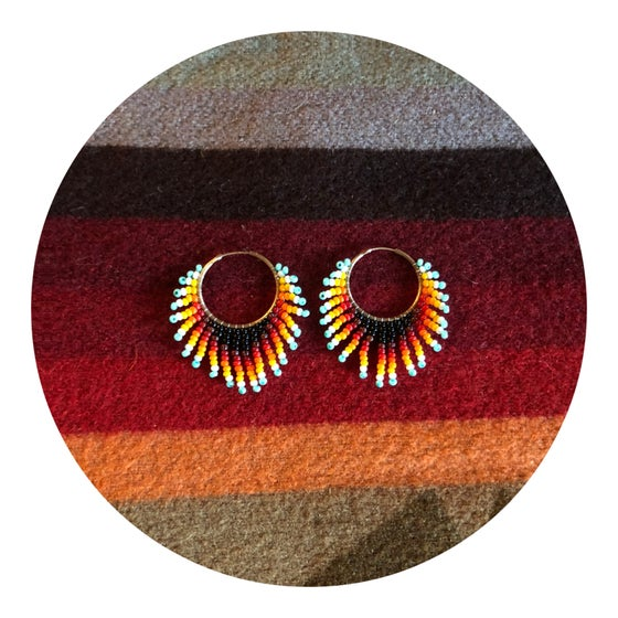 Image of ORIGINS - Mini sunburst hoops