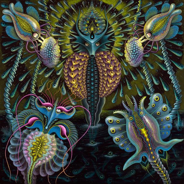 Image of Original Painting • The BIRTH of VIRUS