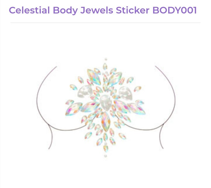 Image of Celestial Body Jewel Sticker