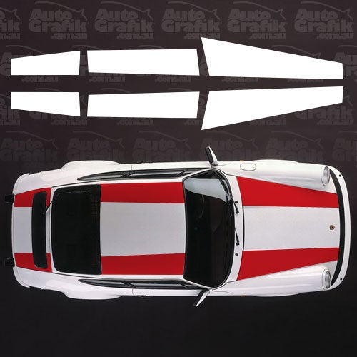 Image of VINTAGE R TYPE OVER STRIPE DECAL KIT