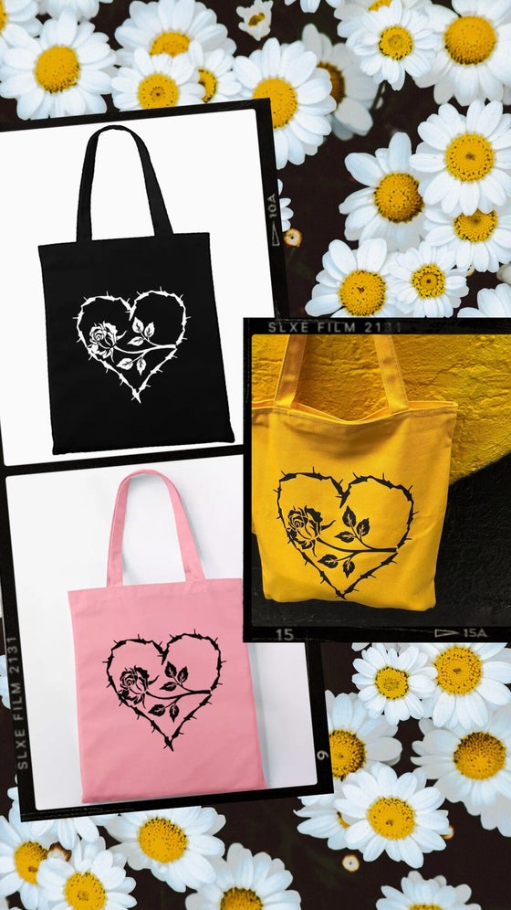 Image of HEART & ROSE TOTE BAG