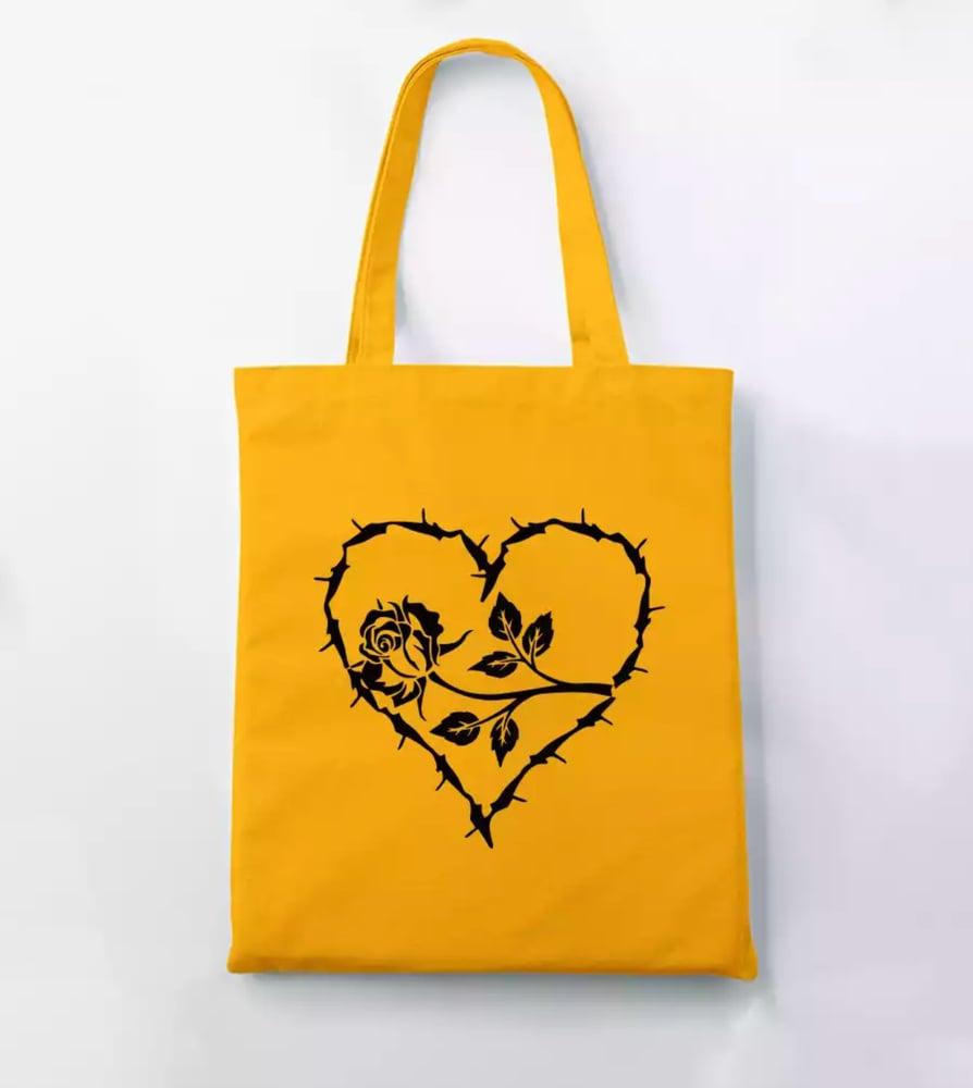 Image of HEART & ROSE TOTE BAG
