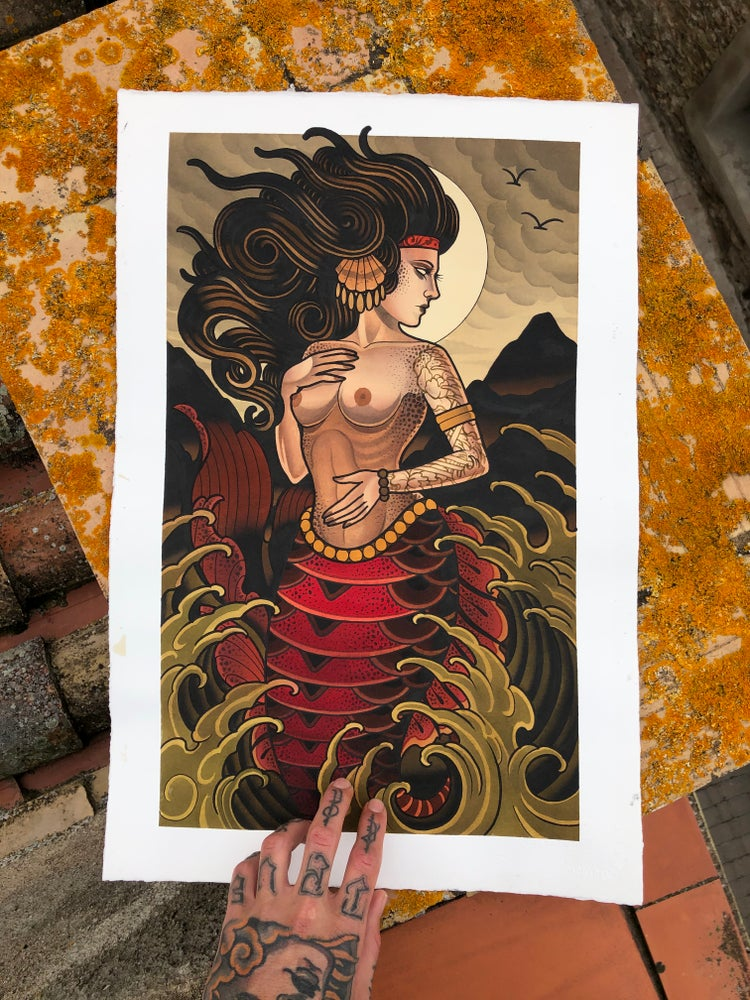 "Image of PRINT 40X25 ""MERMAID"""