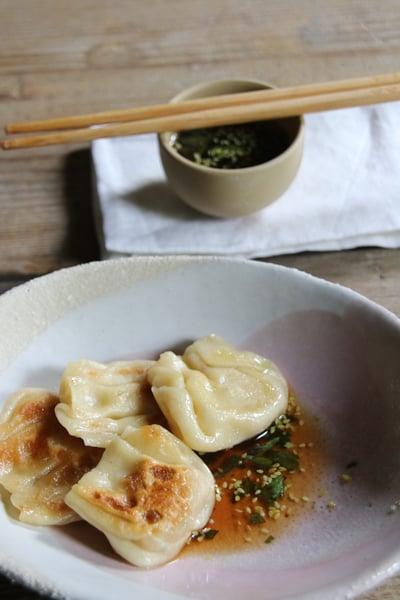 Image of gyozas aux crevettes