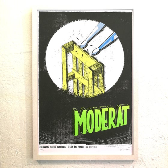 Image of MODERAT / Barcelona 2016 (framed!)