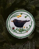 Image of Wool art - Blackbird