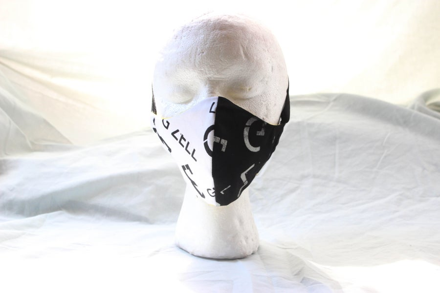 Image of Gzell Limited  Half Black/White Face Mask