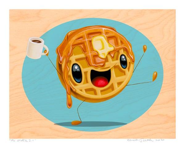 """Image of """"Mr. Waffle 2.0"""" Giclee"""