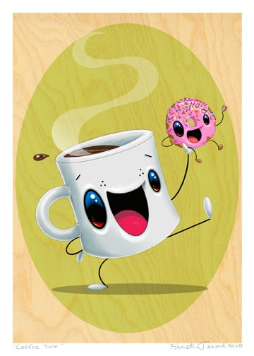 "Image of ""Coffee Talk"" Giclee"