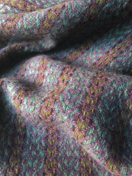 Image of Eucalyptus & Rose 'Deco Fan' scarf