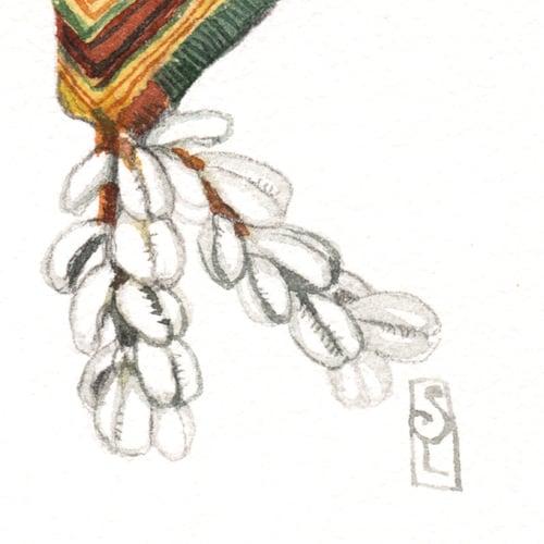 """Image of Original Painting - """"Banjara - Pièces textiles"""" - 20x20 cm"""