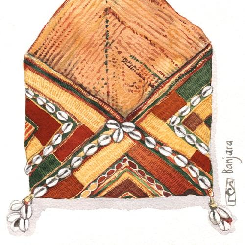 "Image of Original Painting - ""Sac enveloppe"" - 20x20 cm"
