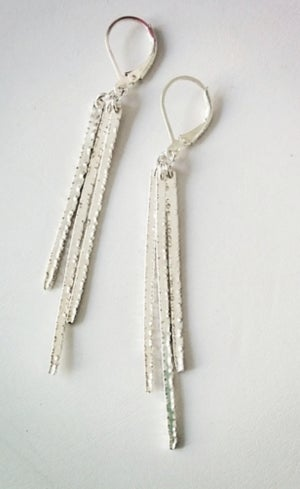 Image of triple spike earrings