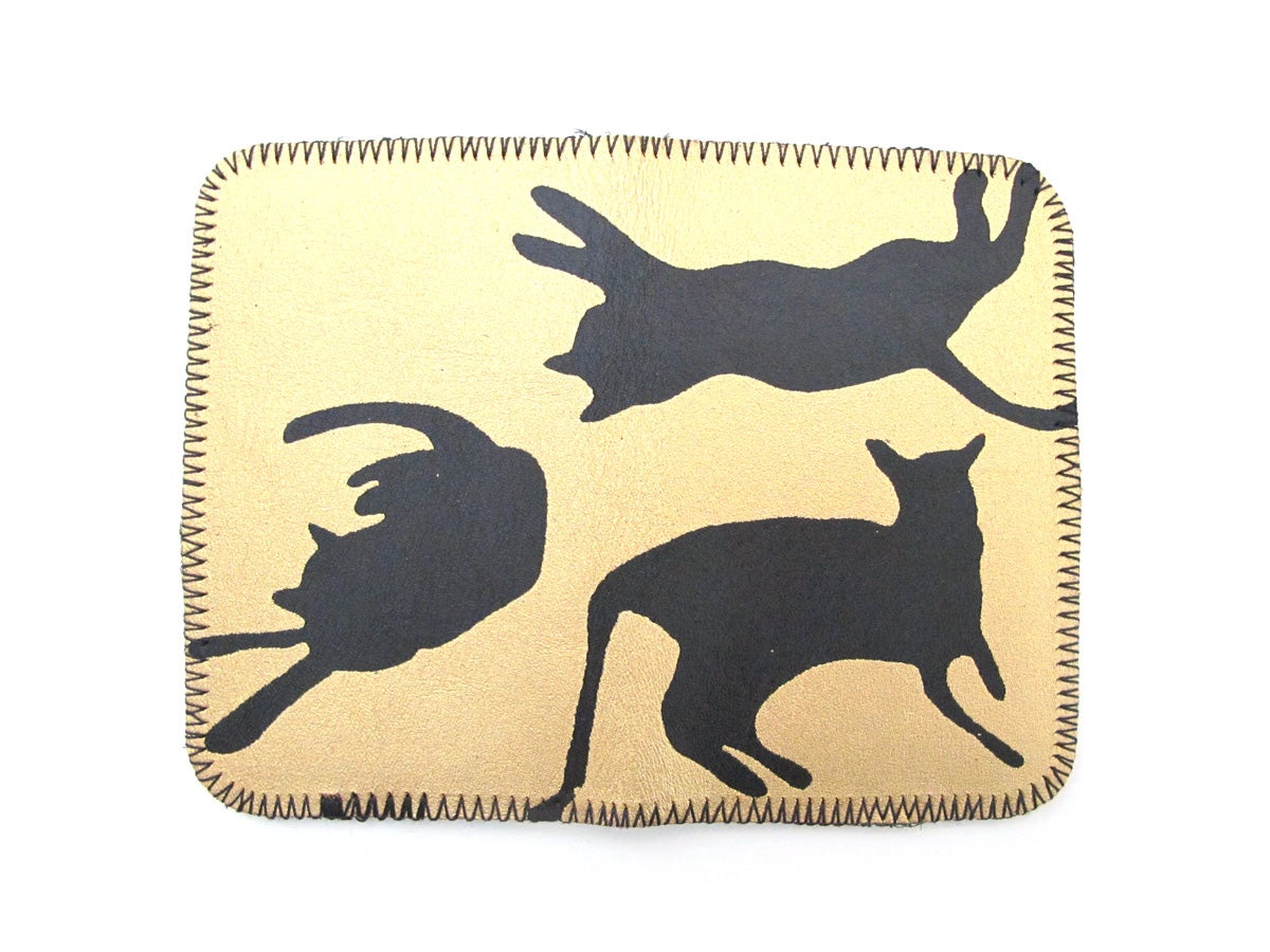 Image of Gold and Black Cats Card Holders