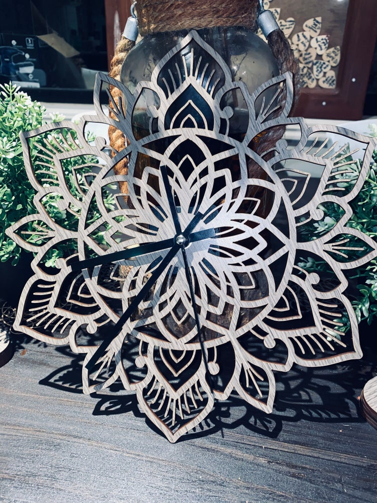 Image of PRE ORDER: Mandala Wall Clock #1 by Migelly Shaw