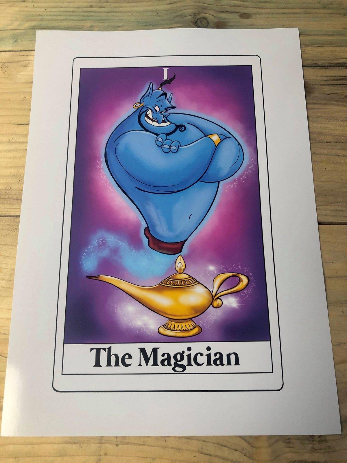 Genie- The Magician Tarot card print