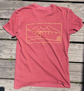 Image of NEW! Washed Tee - Maroon